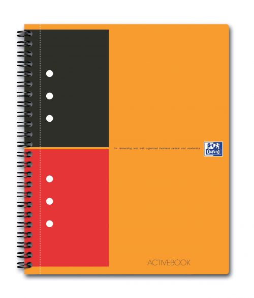 Oxford Int Active Book Poly Wbnd 80gsm Smart Ruled Perf Punched 10 Holes 160pp A5+ Ref 100104067 [Pack 5]