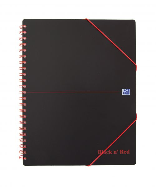 Oxford Black n' Red Meeting Book Wirebound A4+ Ruled Margin SCRIBZEE Compatible 160 Pages Pack 5 100104323