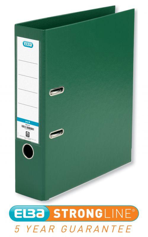 Elba Smart Pro+ Lever Arch File A4 80mm Spine Polypropylene Green 100202174