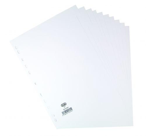 Elba Divider A4 White Card 10 Part 160gsm