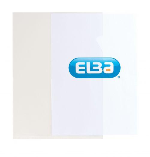 Elba Cut Flush Folder 80 Micron A4 Open Two Sides Clear Ref 100206548 [Pack 100]