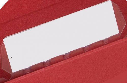 Elba Verticflex Plastic Tabs for Suspension File Clear Ref 100330217 [Pack 25]
