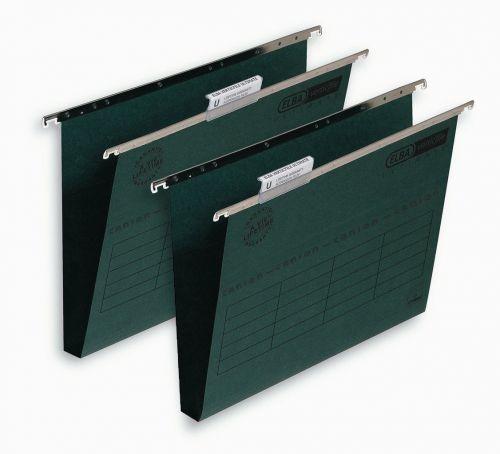Elba Verticfile Ultimate Suspension File 30mm Wide-base Manilla 240gsm Green Ref 100331114 [Pack 50]