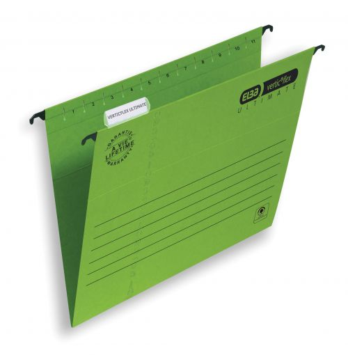 Elba Verticflex Ultimate Suspension File Manilla 15mm V-base 240gsm A4 Green Ref 100331150 [Pack 25]