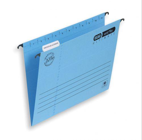 Elba Verticflex Ultimate Suspension File Manilla 15mm V-base 240gsm Foolscap Blue Ref 100331168 [Pack 25]