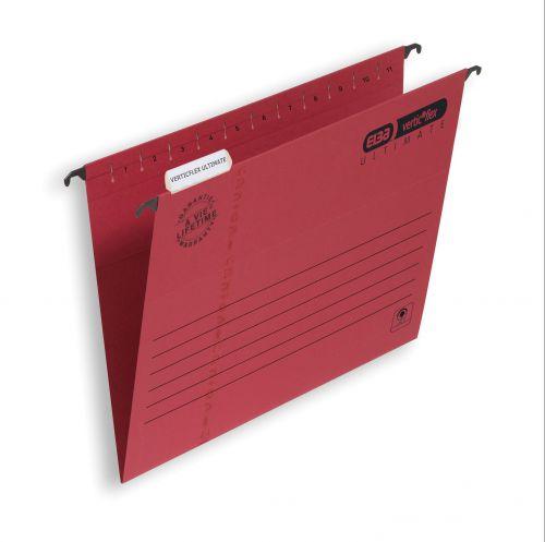 Elba Verticflex Ultimate Suspension File Manilla 15mm V-base 240gsm Foolscap Red Ref 100331172 [Pack 25]