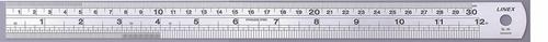 Linex Heavy Duty Ruler 30cm Stainless Steel LXESL30