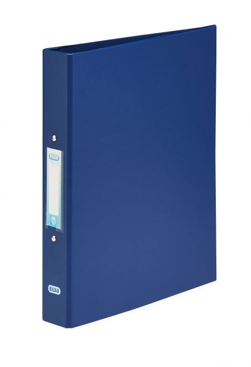 Elba Ring Binder PVC 2 O-Ring Size 25mm A4 Blue Ref 400001508 [Pack 10]