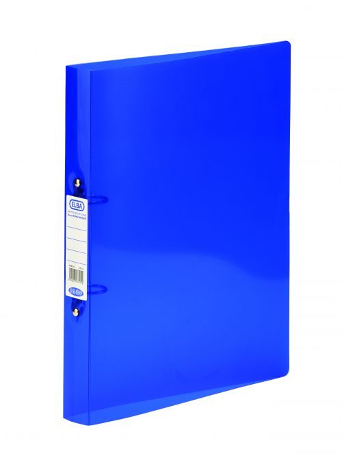Elba Bright Ring Binder A4 25mm Blue 400002002