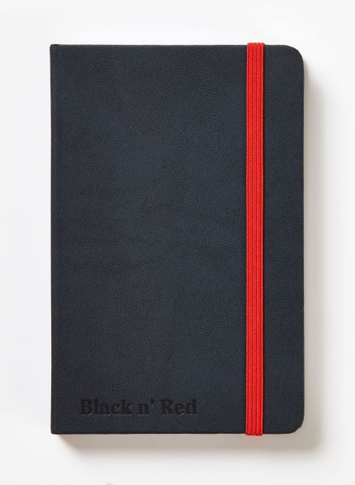 Black n' Red Casebound Hardback Notebook A6 Black 400033672