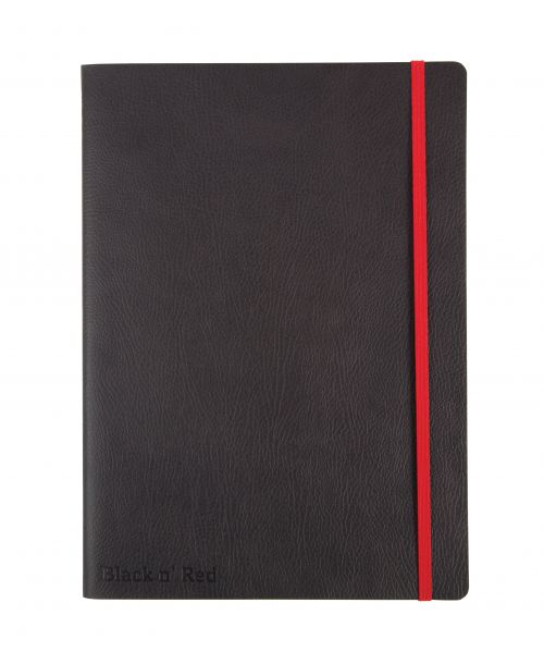 Black n Red Business Journal Soft Cover B5 (180x250mm) 144pg Ruled With Numbered Pages 400051203