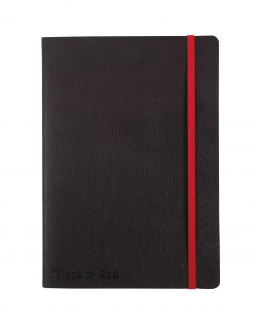 Black n Red Business Journal Soft Cover A5 144pg Ruled With Numbered Pages 400051204