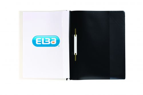 Elba Pocket Report File A4 Black (Pack of 25) 400055036