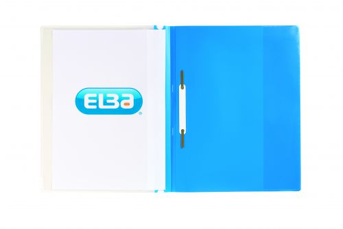 Elba A4+ Report File Capacity 160 Sheets Clear Front A4 Blue Ref 400055037 [Pack 25]
