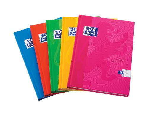 Oxford Touch A5 192 Page Hardback Casebound Notebook Assorted (Pack of 5)