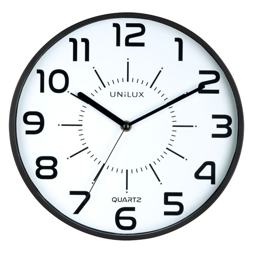 Unilux Pop Battery Clock Black 400094281