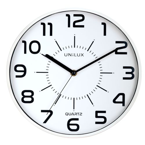 Unilux Pop Battery Clock White 400094282