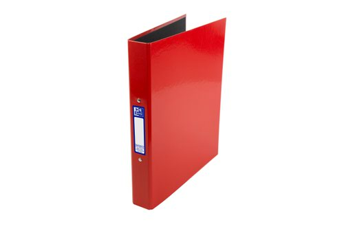Elba Ring Binder Laminated Gloss Finish 2 O-Ring 25mm Size A4+ Red Ref 400017755