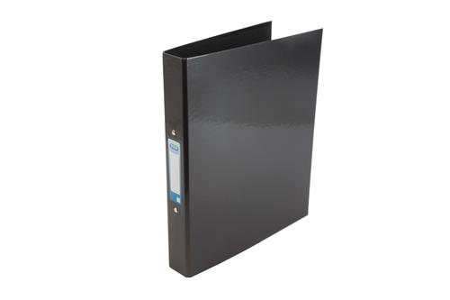 Elba Ring Binder A4 Laminated Paper On Board 30mm Spine 25mm Capacity 2 O-Ring Black 400107382
