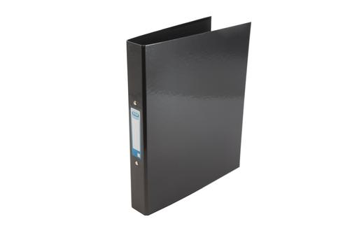 Elba Ring Binder Laminated Gloss Finish 2 O-Ring 25mm Size A4+ Black Ref 400017753