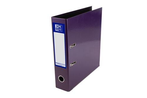 Elba Lever Arch File Laminated Gloss Finish 70mm Capacity A4+ Metallic Purple Ref 400021021