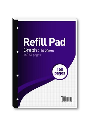 Hamelin 2-10-20mm Graph Refill Pad A4 80 Sheet (Pack of 5) 400127712