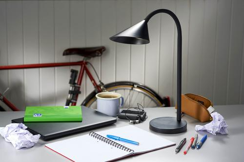 Unilux Sol Flexible LED Desk Lamp 4 Watt (500 lumens) Black 400086979
