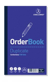 Challenge Duplicate Order Book Carbonless 100 Sets 210 x 130mm (Pack of 5) 100080400