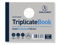 Challenge Triplicate Book Ruled Carbonless 100 Sets 105 x 130mm (Pack of 5) 100080471