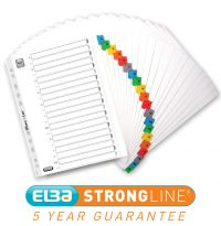 5 x A-Z EXTRA WIDE Strong Lever Arch File Subject Divider Index A4 907077