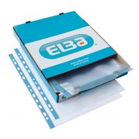 Oxford Pchd Pocket Polyprop Blue Strip Top-opening 75 Micron A4 Emb Clear Ref 400002150 [Pack 100]
