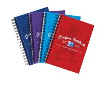 Oxford Campus Notebook Wirebound 90gsm Ruled Perforated 140pp A6 Assorted Ref 400013923 [Pack 10]