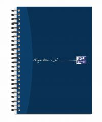 Oxford MyNotes Notebook Wirebound 90gsm Ruled Margin Perf Punched 2 Holes 100pp A5 Ref 400020197 [Pack 5]