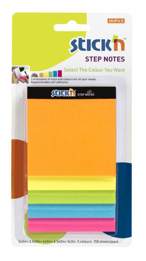 ValueX Magic Cube Step Notes 150 Sheets Neon Colours 21423