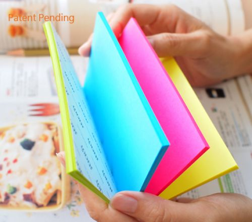 Stickn Magic Pad 76x127mm 4 Neon Colours 100 Sheets Per Pad (Pack 12)