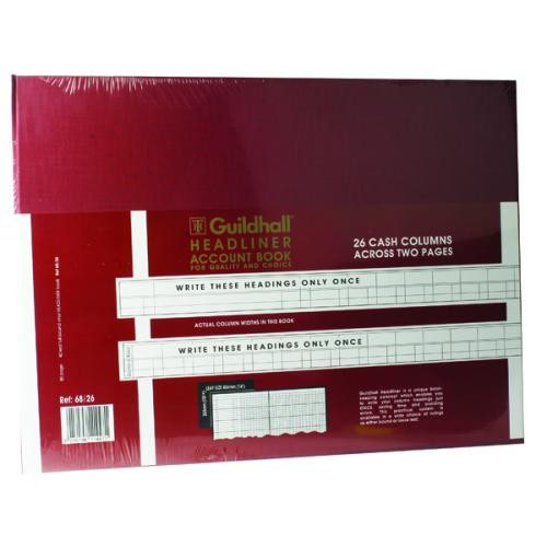 Guildhall Headliner Book 68 Series 26 Petty Cash Column 80 Pages