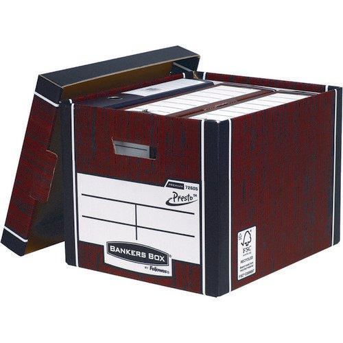 Premium Tall Box-Woodgrain (Fsc) Storage Box  5  Pack