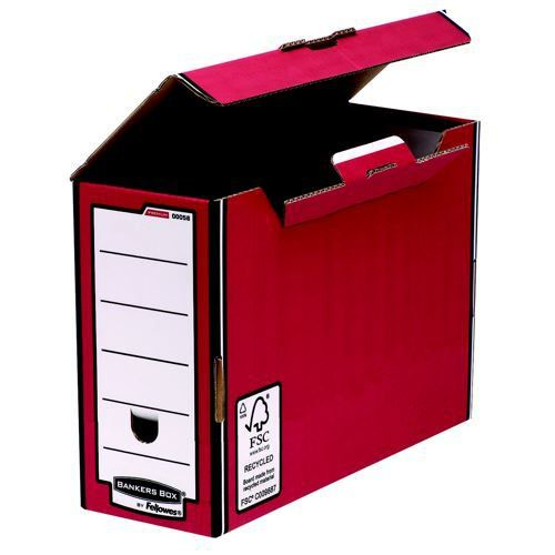 Bankers Box Flip Top Transfer File Red/White