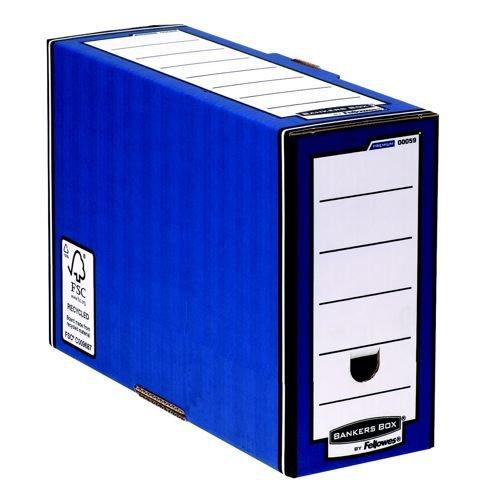 Fellowes Bankers Box Flip Top Transfer File Blue/White