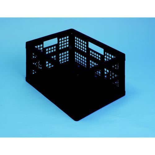 Really Useful 32 Litre Folding Crate Black Pack 3