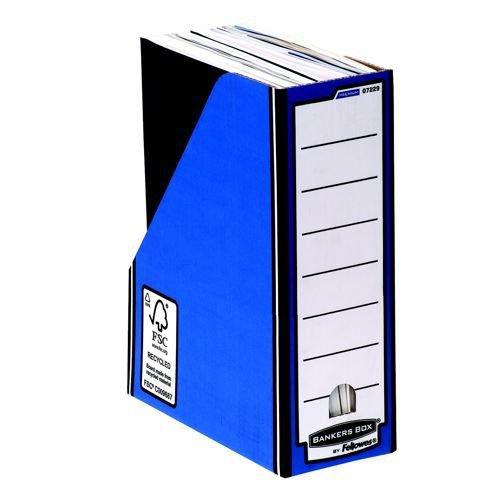 Fellowes Bankers Box Premium Magazine File Blue/White