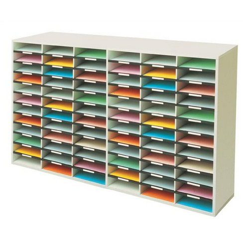 Fellowes Literature Sorter Melamine-laminated Shell 72 Compartments 737x302x1776mm