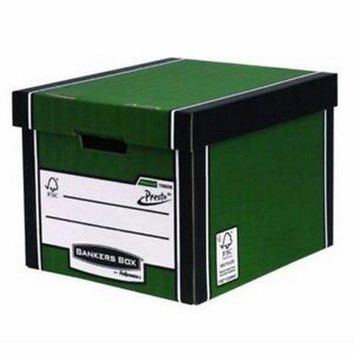 Fellowes Bankers Box Premium Presto Tall Storage Box Green/White 10