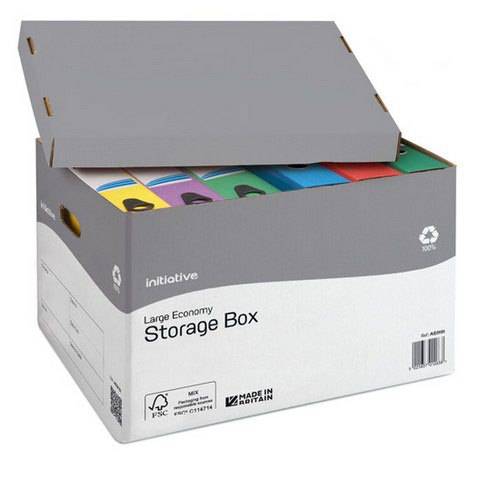 Initiative Large Economy Storage Box 355w x 430d x 290h mm