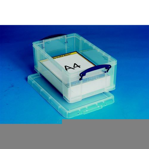 Really Useful Storage Box Plastic Lightweight Robust Stackable 9 Litre 255x395x155mm Clear