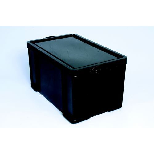 Really Useful 35 Litre Recycled Storage Box Black