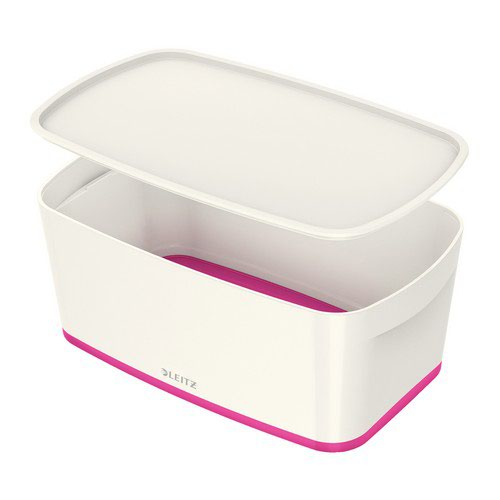 Leitz Mybox Small With Lid White/Pink