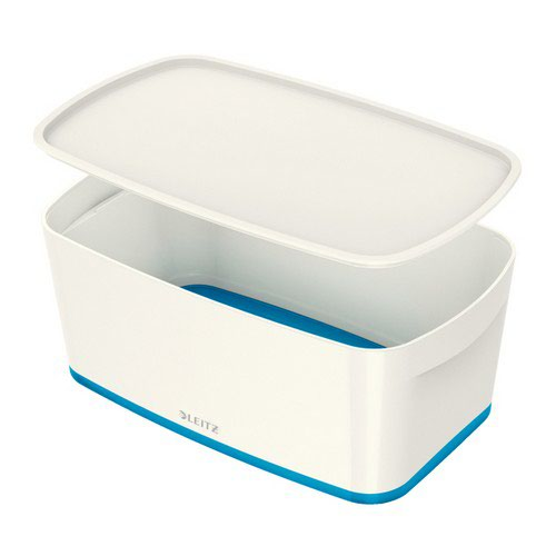 Leitz Mybox Small With Lid White/Blue