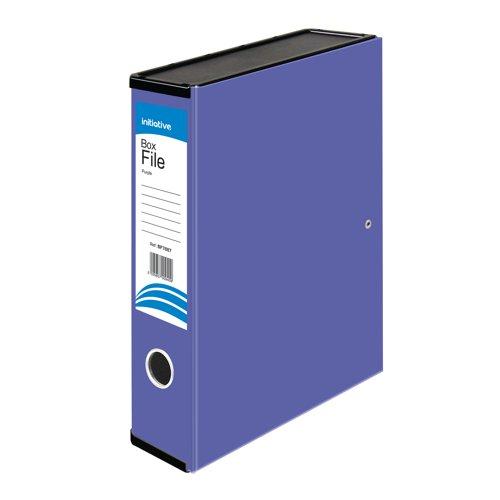 Initiative Lockspring Box File A4/Foolscap 70mm Capacity Purple