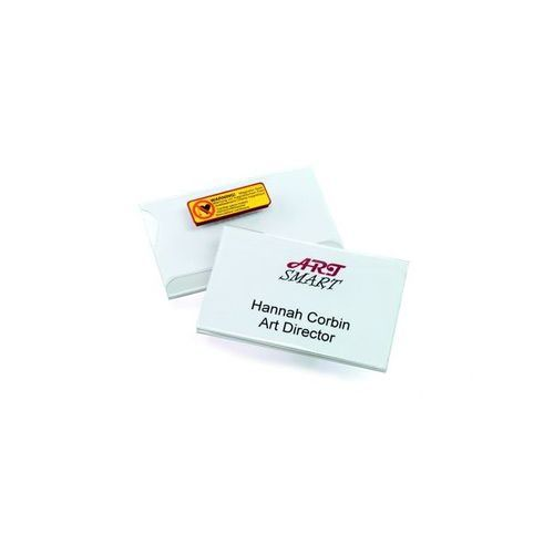 Durable Magnetic Name Badge 90w x 54hmm Pack 25